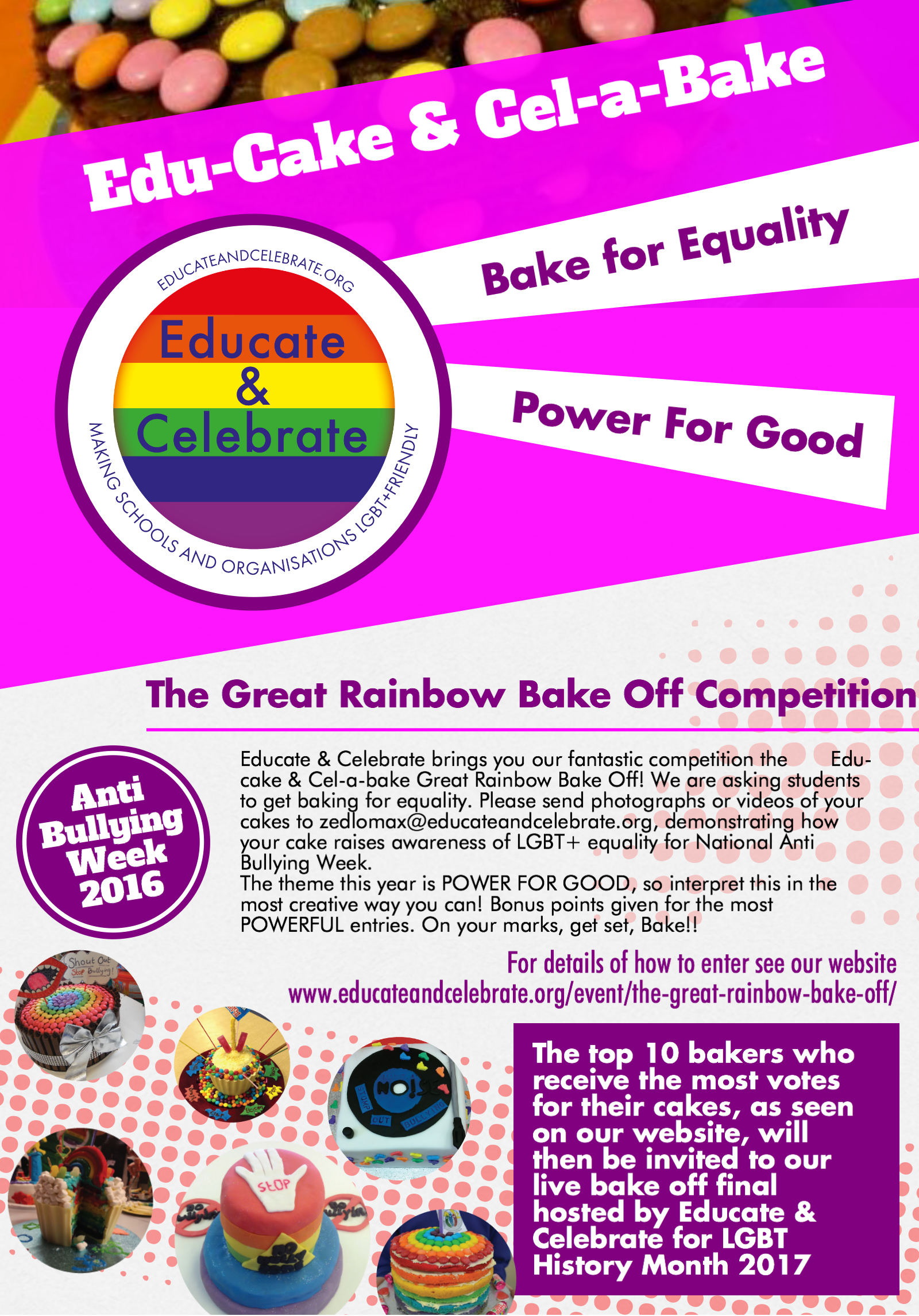 the great rainbow bake off educate celebrate the poster here