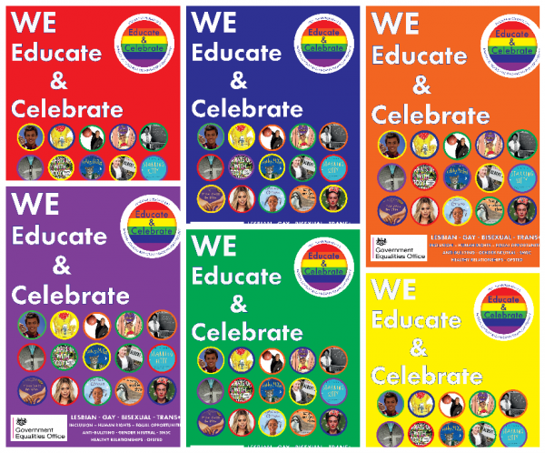 Posters, Best Practice. LGBT+. Lesbian, Gay, Bisexual, Trans, Training, Education