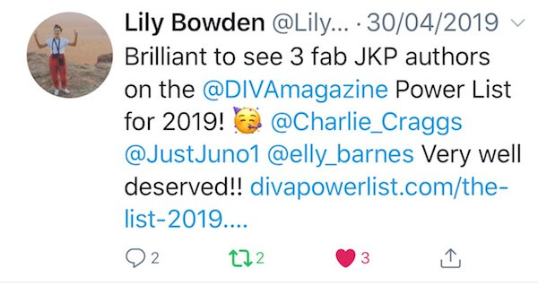 A copy of a tweet from Lily Bowden