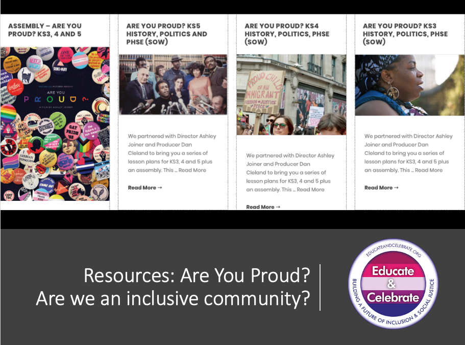 Are you Proud? Lesson plans available from Educate & Celebrate