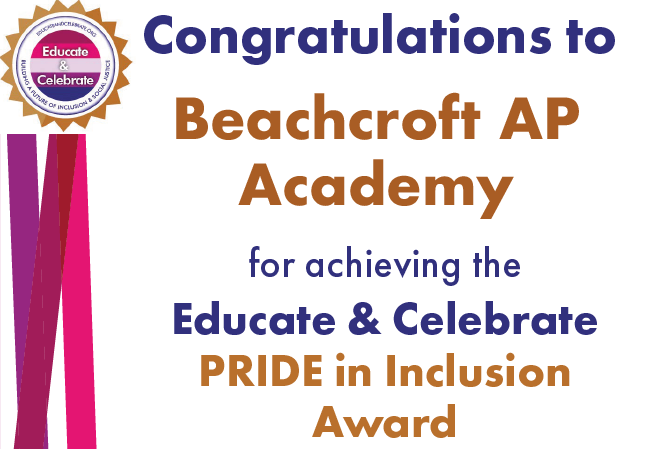 Beachcroft AP Academy Pride in Inclusion Award from Educate & Celebrate