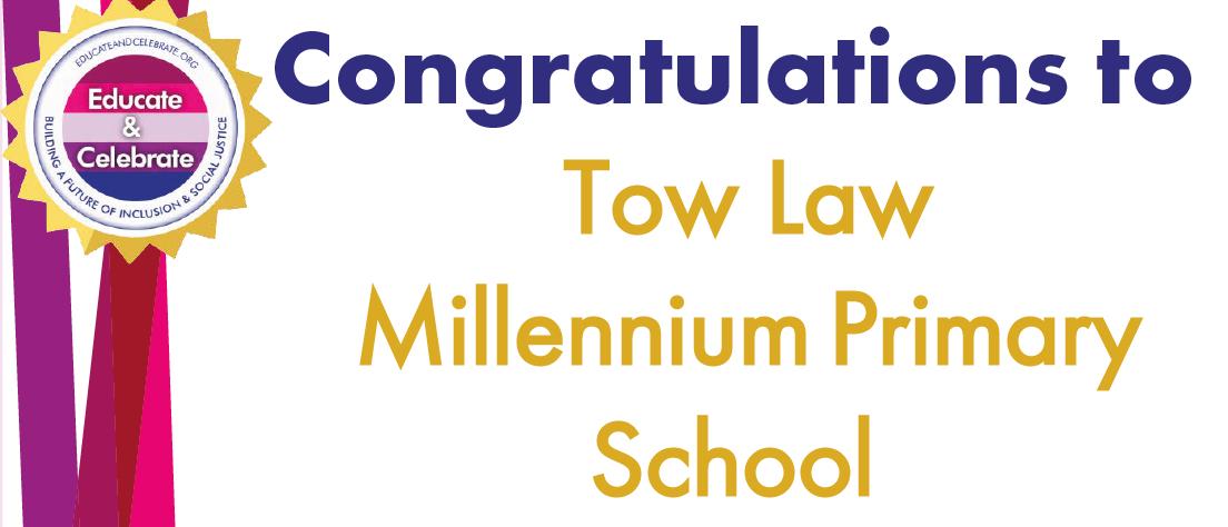 Congratualtions certficiate to Tow Law Millenium Primary School